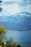 View of mount Lovcen in Boka Bay, Montenegro Stock Images