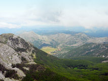 View from mount Lovcen, Montenegro. Royalty Free Stock Image