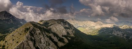 View from Mount Lovcen in Montenegro. royalty free stock photo