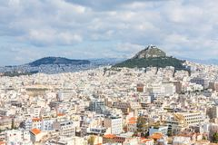 A View of Mount Lycabettus stock photo