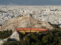 View from the Mount Lycabettus over Athens, Greece. View from the Mount Lycabettus over Athens and the open air theater in Greece, Europe Stock Images