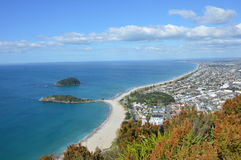 View from Mount Maunganui Stock Photo