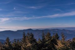 Mount Mitchell, North Carolina. View from Mount Mitchell, North Carolina stock images