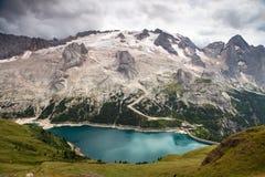 View of mount Mmarmolada, Italian Dolomites Royalty Free Stock Image