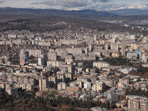 View from Mount Mtatsminda over Tbilisi (Georgia) Stock Photo