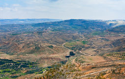 View from Mount Nebo in Jordan. View of Promised Land from Mount Nebo in Jordan Stock Image