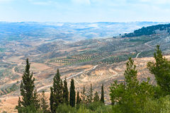 View from Mount Nebo in Jordan 3. View of Promised Land from Mount Nebo in Jordan 3 Royalty Free Stock Images