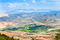 View from Mount Nebo in Jordan 6 Stock Image