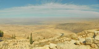 View from the Mount Nebo, Jordan stock photo