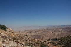 View from the Mount Nebo Jordan, stock photos