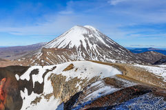 View of Mount Ngauruhoe in the Tongariro National Park, New Zeal Royalty Free Stock Images