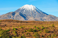 View of Mount Ngauruhoe in the Tongariro National Park, New Zeal Stock Photos