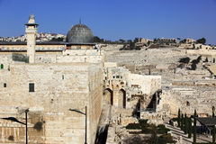 View on the Mount of Olives and Al-Aqsa mosque Stock Image