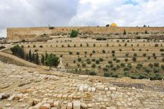 View from Mount of Olives Stock Photography