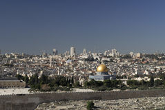 View from the Mount of Olives of The Temple Mount Stock Photos