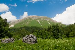 View of Mount Oshten, North Caucasus Royalty Free Stock Images