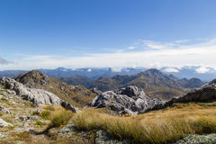 View from Mount Owen in Kahurangi National Park Stock Images