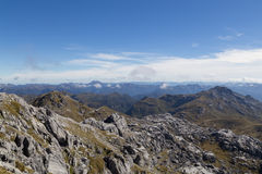 View from Mount Owen in Kahurangi National Park Stock Photos