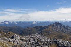 View from Mount Owen in Kahurangi National Park Royalty Free Stock Photo