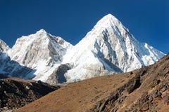 View of mount Pumo Ri near Gorak Shep village Royalty Free Stock Photography