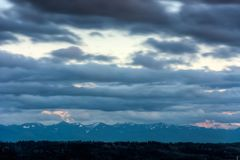 View of Mount Rainier in the State of Washington. royalty free stock photos