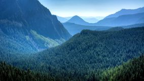 View of Mount Rainier in the State of Washington. stock photography