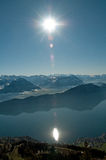 View from mount Rigi in Switzerland Royalty Free Stock Photo