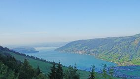 View from the Mount Rigi in Switzerland royalty free stock photos