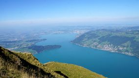 The Lake Zug in the Switzerland royalty free stock photo
