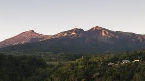 View of Mount Rinjani at sunrise, Lombok, Indonesia Stock Photo