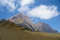 View from Mount Rinjani, taken with fish eye lens, Mount Rinjani is an active volcano in Lombok, Indonesia. View from Mount Rinjani, taken with fish eye lens stock image