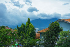 A view of mount Salak in Bogor java indonesia Royalty Free Stock Photo