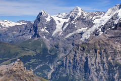 View from Mount Schilthorn Stock Photo