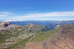 View from Mount Schilthorn Royalty Free Stock Photography