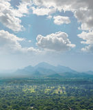 View from  mount Sigiriya, Sri Lanka (Ceylon). Royalty Free Stock Photos