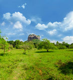 View of mount Sigiriya, Sri Lanka (Ceylon). Stock Photography