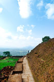 View from mount Sigiriya, Sri Lanka (Ceylon). Royalty Free Stock Image