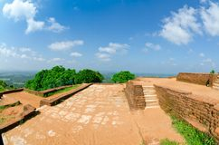 View from mount Sigiriya, Sri Lanka (Ceylon). Royalty Free Stock Photography