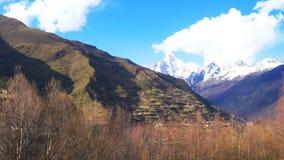 View of Mount Siguniang in Siguniang National Park stock video
