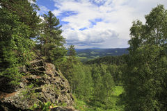 View from Mount Small Sinyuha. Royalty Free Stock Images