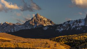 View of Mount Sneffels and San Juan Mountains outside Ridgway,. OCTOBER 4, 2017 - View of Mount Sneffels and San Juan Mountains outside Ridgway, Colorado on royalty free stock photo