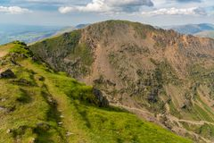 View from Mount Snowdon, Wales, UK Royalty Free Stock Image