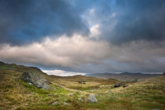 View from Mount Snowdon towards Carneddau mountain Stock Photography