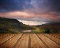 View from Mount Snowdon towards Carneddau mountain range during Royalty Free Stock Image