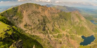 View from Mount Snowdon, Wales, UK Stock Image