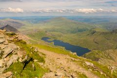 View from Mount Snowdon, Wales, UK Stock Photos