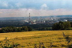 The view of Mount St. Anna on Coke Plant Zdzieszowice. In Poland Royalty Free Stock Image