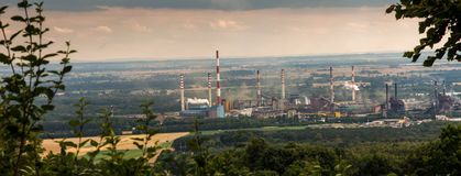 The view of Mount St. Anna on Coke Plant Zdzieszowice. In Poland Stock Photo