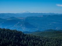 Panoramic view from Sherrard Point on Larch Mountain - Oregon, USA stock photos