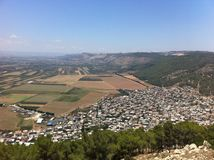 View from Mount Tabor Stock Image